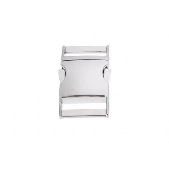 Spona trojzubec - stříbrná (25mm)