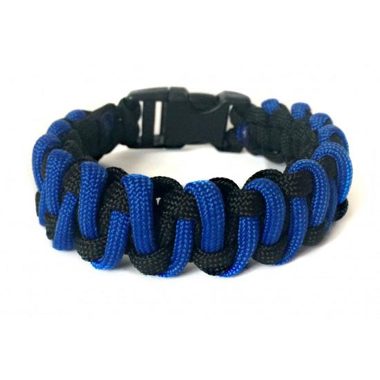 Survival paracord náramek - Proplétaný (modrý)