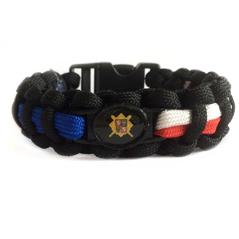 Paracord náramek - Armáda České republiky