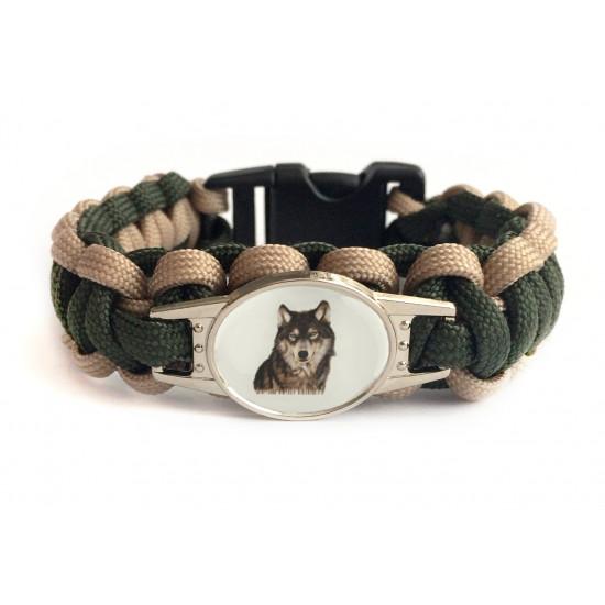 Survival paracord náramek - Lovec vlků